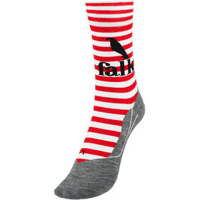 Falke RU4 Calze Donna, rosso/grigio